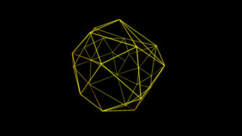 Intersperse yellow motion laser lines effect on black motion background VJ Loop Footage