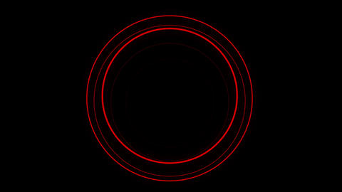 Orbicular red motion laser lined effect on black motion…, Live Action
