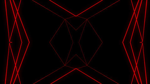 Red constructural motion laser lines effect on black motion background VJ Loop Footage