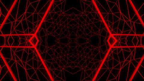 Red constructural motion laser lines effect on black… Stock Video Footage