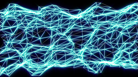 Networking blue motion laser lines effects on black motion background VJ Loop Live Action