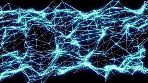Networking blue motion laser lines effects on black... Stock Video Footage