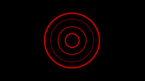 Red spheroid motion laser lines effect on black motion background VJ Loop Footage
