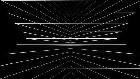 Trigonous white motion laser lines effect on black motion background VJ Loop Footage