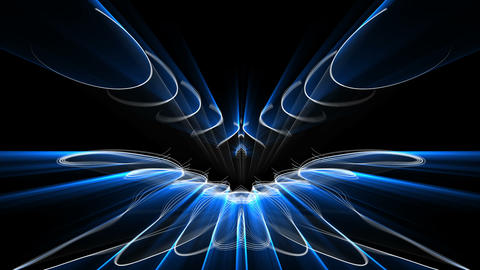 Abstract blue motion lines Wings event edm vj loop Live Action