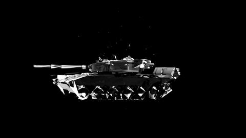 Holographic tank VJ Loop 3D character on black motion background Footage