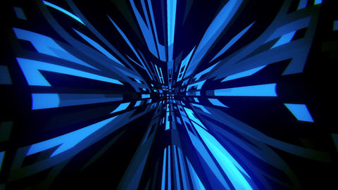Blue Digital Squares with Warp Distortion VJ Loop Background Animation