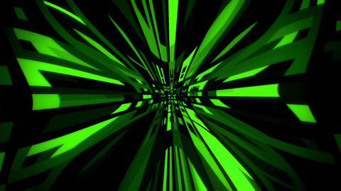 Green Digital Squares with Warp Distortion VJ Loop Background Animation