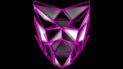Polygonal pink lines animation on face poly mask vj loop event visuals Live Action