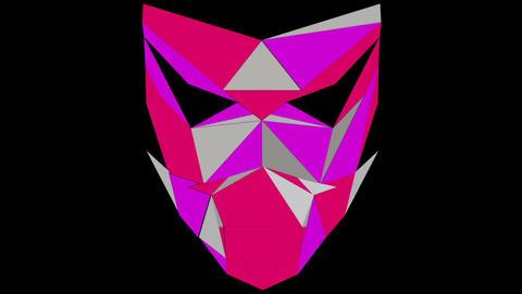 Ultra violet masking Polygonal strobe colorful 3d lines mask pink vj loop Footage