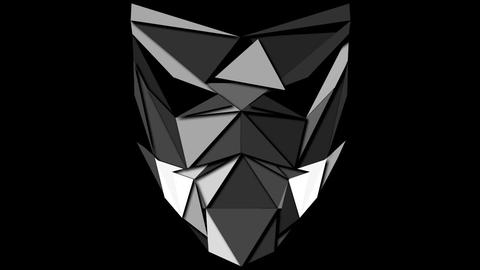 Monochromatic displace vj loop polygonal strobe mask lines ライブ動画
