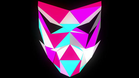 Glowing light Polygon strobe 3d mask vj loop Footage