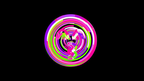 Circles gather in symbol kiss beam. After it crumbles in a line and moves to the Animation