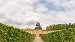 Potsdam Germany time lapse 4K, timelapse at Orangery Palace Footage