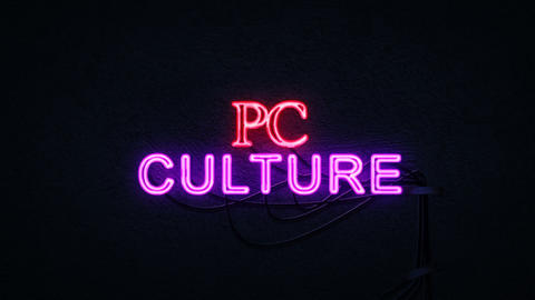 PC Culture Neon Sign Footage