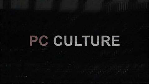 PC Culture Title with Television Glitches Live Action