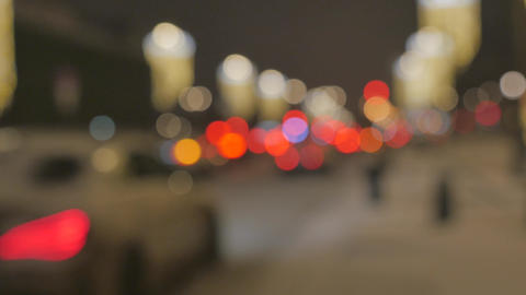 Blurred lights of the movement of cars at night 영상물