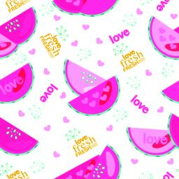Fresh watermelon with drops and text seamless pattern ベクター