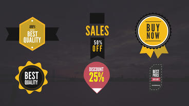 Sales Animated Badges Pack After Effects Template