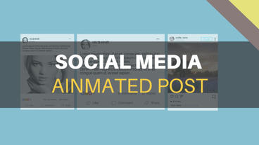 Social Media Animated Post Kit After Effects Template