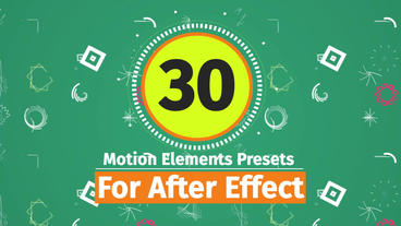 30 Motion Graphic Elements Preset Pack After Effects Animation Preset