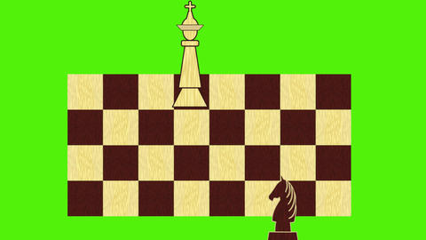 Chess theme - black figures approach the white king, ending the game mat Animation