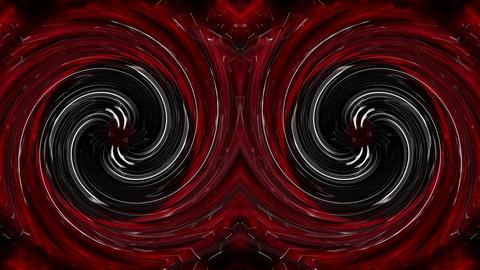Red black twirl eyes stobe Art 3d Abstraction VJ Loop Footage