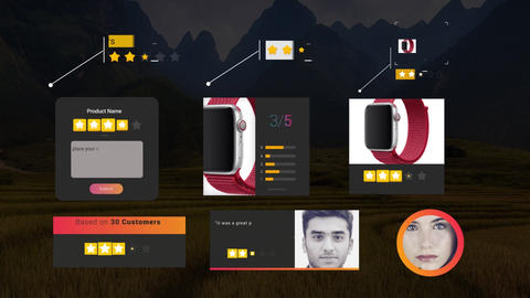 Smart Review and 5 Star Elements Pack After Effects Template