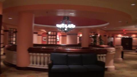Hotel Lobby Camera Pan Footage
