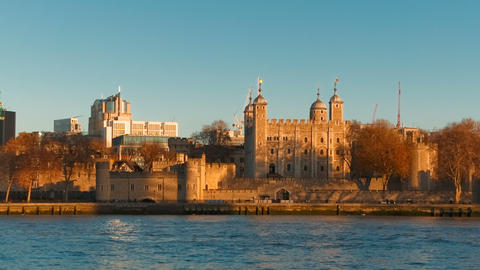 Tower of London and Tower Bridge, London, UK Live Action