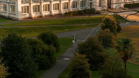 Temperate House, Kew Gardens, London, UK Footage