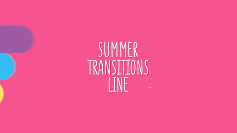 Summer Transitions Line Pack After Effects Template
