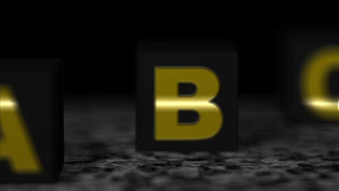 Block black alphabet Animation