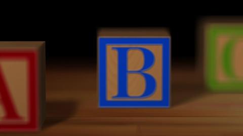 Block wood alphabet Animation