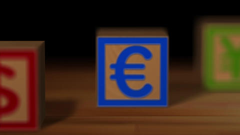 Block wood currency Animation