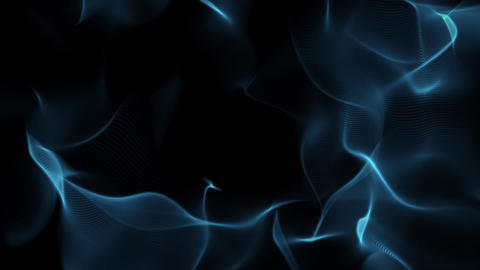 Blue Flowing Slow Swirls Streaks Dark Abstract Motion Background Loop 1 Animation