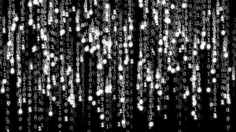 Code binary white Animation