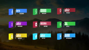 Cube Social Media Lowerthirds Pack 애프터 이펙트 템플릿