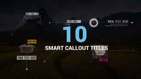 10 Smart Callout Titles Pack After Effects Template