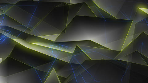 Blue Yellow Polygonal Background Loop GIF