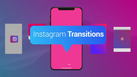 Instagram Vertical Transitions Pack After Effects Template