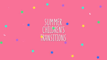 Summer Children's Transitions After Effects Template