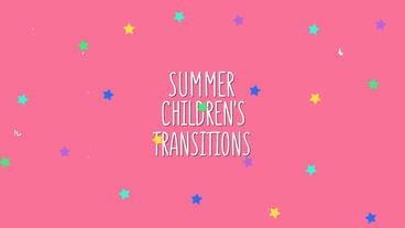 Summer Children's Transitions Plantilla de After Effects
