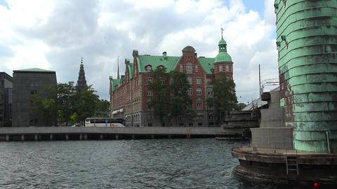 Stock Exchange. Bursen. Copenhagen. Denmark. 4K Footage