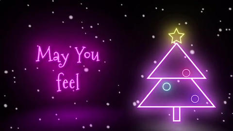 Neon Glitch Rock Christmas After Effects Template