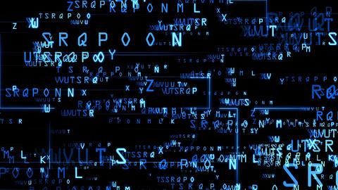 Code alphabet blue Animation
