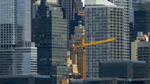 Crane Construction Time-lapse Footage