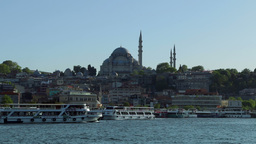 Rustem Pasa Mosque and Pleasure Boats Footage