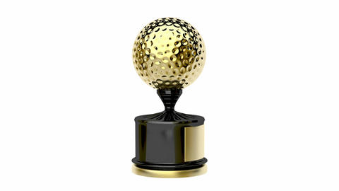 Golf trophy Animation