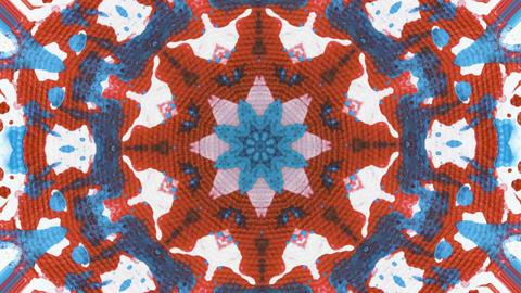 Acrylic abstract kaleidoscope Animation